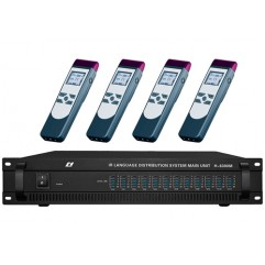 4/6/8/12 Channel Infrared Wireless Language Distribution System