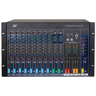 H-G124 12 Channel Professional Mixing Console (Cabinet mountable)